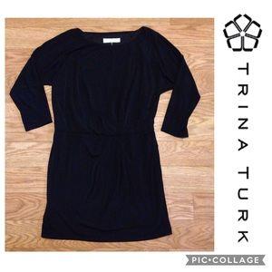 3/4 Sleeve Little Black Dress By Trina Turk EUC